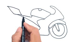How To Draw A Motorbike For Beginners Easy | Jelly Colors Art