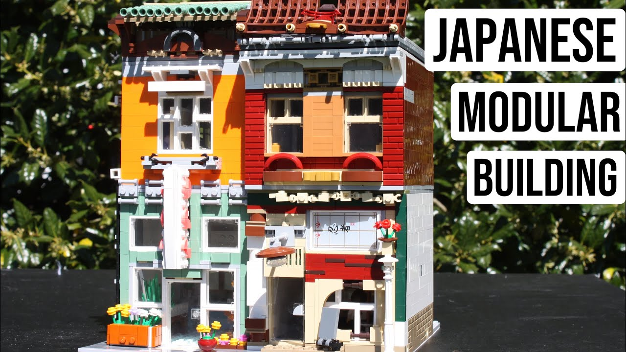 LEGO Modular-Compatible Japanese Floral Shop + Sushi Bar // TD Bricks' MOC Contest Entry