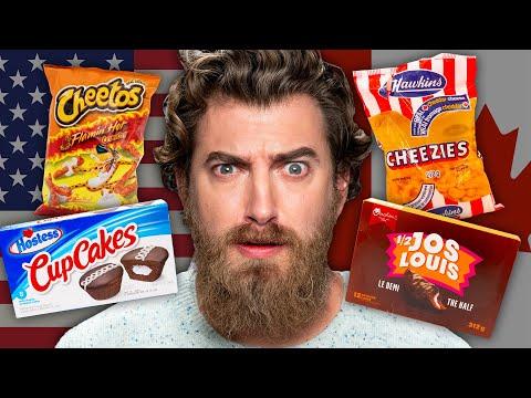 American vs. Canadian Snacks Taste Test