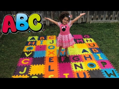 Sally Learning Alphabets with ABC Song !! Kids Nursery Rhyme Songs