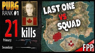 PUBG Rank 1 - Dylhero 21 kills [NA] Squad FPP - PLAYERUNKNOWN