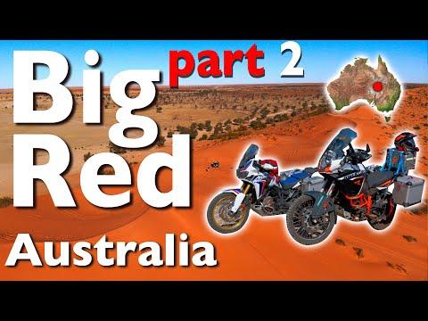 Africa Twin CRF1000 and KTM1190 R  - part 2 Birdsville Big Red Betoota 4K to Simpson Desert AU