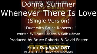 """Donna Summer - Whenever There Is Love (Single Version) LYRICS - SHM OST """"Daylight"""" 1996"""