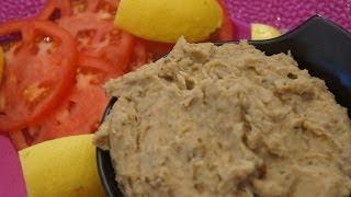 Ethiopian Food - Aubergine Eggplant&Butterbean Pate Recipe Vegan Fasting Amharic&English