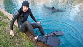 SCUBA DIVING IN POND FOR TREASURE!! (I FOUND IT!)
