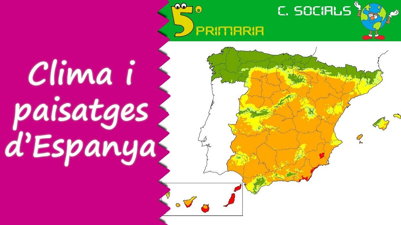 Climes i paisatges d'Espanya. Socials, 5é Primària. Tema 3