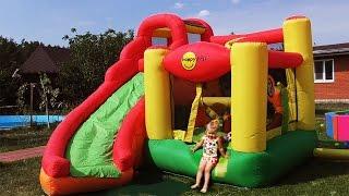 ✿ Hello Kitty на БАТУТЕ Хелло Китти Toys for Girls Игры Для Девочек Hello Kitty Kids trampoline