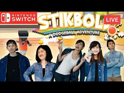 Switch多人遊戲直播 5人一起玩 躲避球大冒險