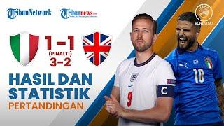 Highlight & Hasil Final Euro 2020 Italia 1-1 Inggris, Donnarumma Jadi Pahlawan & Gagalkan 3 Pinalti