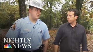 Georgia Trooper Delays Tragic News to Save Kids' Halloween | NBC Nightly News