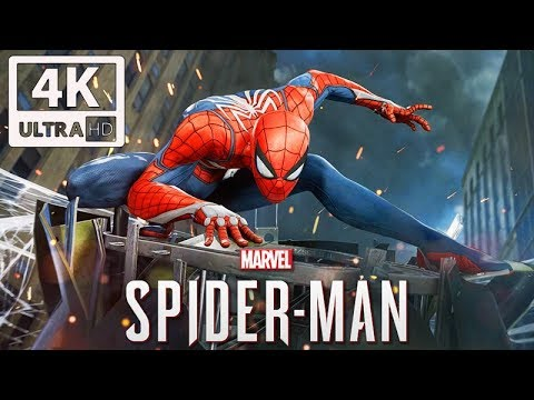 SPIDER-MAN PS4 All Cutscenes (Game Movie) PS4 PRO 4K Ultra HD