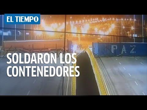 Guardia venezolana soldó los contenedores al puente Tienditas   EL TIEMPO