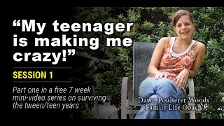 """""""My Teenager Makes Me Feel Crazy!"""" #1 mini-video in free parenting series. """"Remember"""