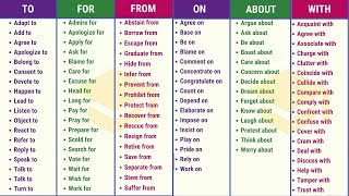 Verbs with Prepositions: 100+ Important Prepositional Verbs for Improving your English Fluency