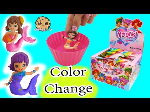 b3c477fa93 Magiki Color Changing Mermaids in Water - Full Box Unboxing All 16 Surprise  Blind Bags
