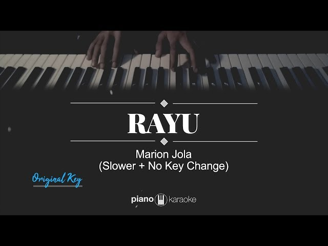 Rayu (FEMALE KEY) Marion Jola (Karaoke Piano Cover)