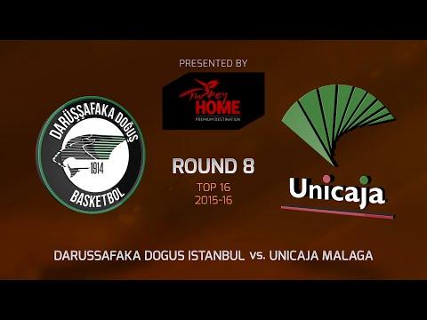 Highlights: Top 16, Round 8, Darussafaka Dogus Istanbul 78-55 Unicaja Malaga