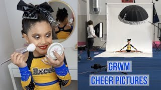 GET READY WITH ME | CHEER PICTURES