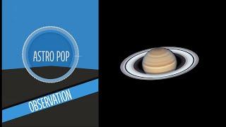 Astro POP Observation - Saturne Et Jupiter Dans Notre Ciel Dété