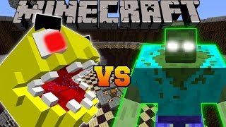 Minecraft: PACMAN VS MUTANT ZOMBIE - Minecraft Mob Battles - Modded Mini-Game