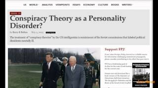 Psychiatry Used As Tool To Silence Conspiracy Theorists