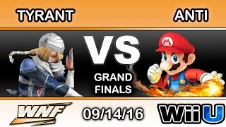 WNF 3.7 - NME | Tyrant (Sheik) Vs. IMT | ANTi (Mario) Grand Finals - Smash Wii U