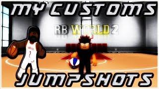(WET CUSTOM JUMPSHOTS) ROBLOX RB WORLD 2