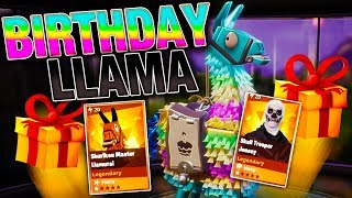 LUCKIEST BIRTHDAY Llama Opening! *INSANE LOOT* | Fortnite Save the World