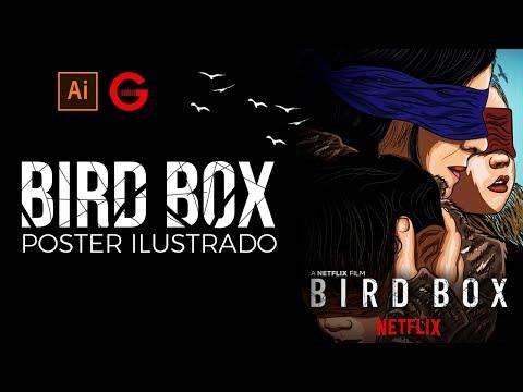 Illustrator | Bird Box Poster Ilustrado | Bird Box Illustrated Poster