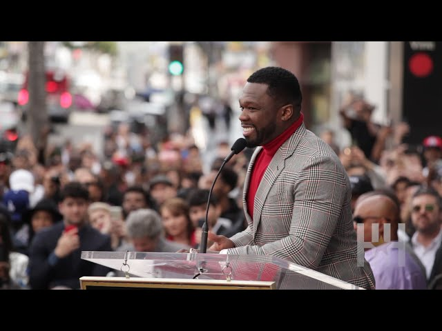 50 Cent Cracks Jokes, Almost Cries Receiving Star On Hollywood Walk Of Fame
