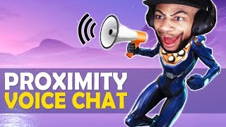 PROXIMITY VOICE CHAT IN FORTNITE!? | HIGH KILL FUNNY GAME   (Fortnite Battle Royale)