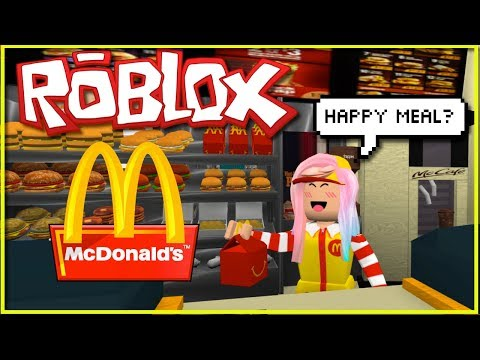 Playing Roblox McDonaldsville  - Working in Mc Donald's Fast Food Game