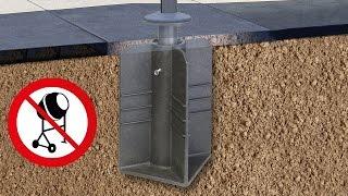 Bodenständer Bodenhülse zum eingraben