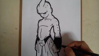Como dibujar a kid boo de dragon ball z / HOW TO DRAW KID BOO OF DRAGON BALL Z
