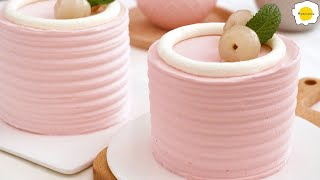 Lychee Raspberry Chiffon Cake 荔枝覆盆子戚风蛋糕 Gâteau Gâteau en mousseline de soie aux Framboise et Litchi