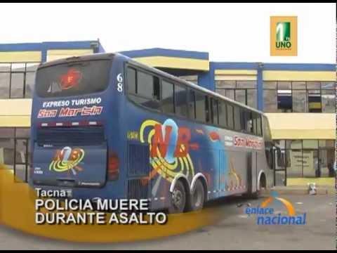 Tacna: Asalto a dos buses que cubrían ruta Puno Tacna deja un policía muerto