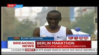 BREAKING NEWS: Eliud Kipchoge wins the Berlin Marathon 2017