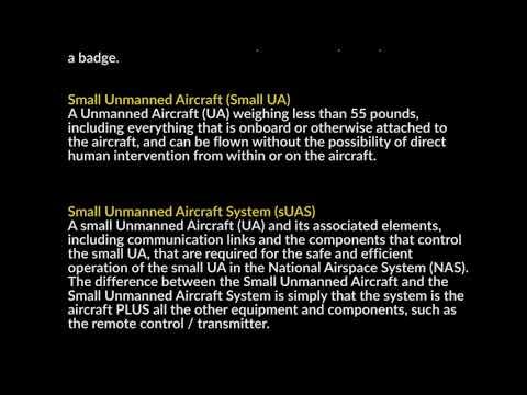 Lesson #12 - Course Review - FAA Part 107 Remote Pilot Exam ...