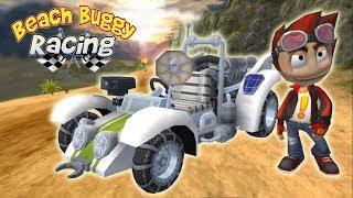 Крутая гонка на пляжных багги в игре на андроид Beach Buggy Racing машинки гонки игры