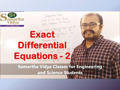 Reducible To Exact Differential Equations I