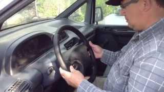 Как снять рулевое колесо Citroen Jumpy | Remove The Steering Wheel