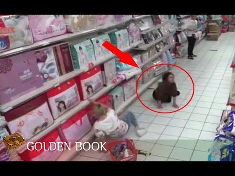 카메라 cctv에 찍힌 중국마트 이상한 아줌마 미스테리