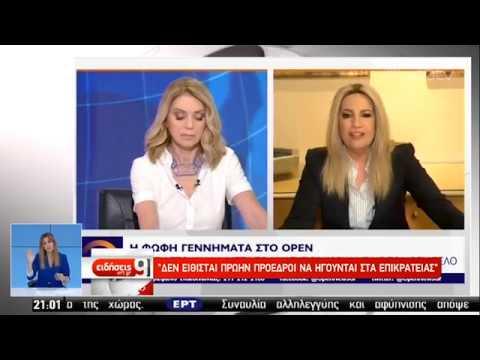Προσκλητήριο ενότητας στο ΚΙΝΑΛ από τη Φ. Γεννηματά | 04/06/2019 | ΕΡΤ
