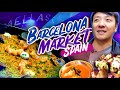 SPANISH BRUNCH at BEST FOOD MARKET in Spain La Boqueria Market in Barcelona Spain