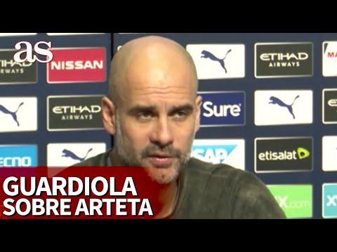 Todo un ejemplo: las palabras de Guardiola sobre la marcha de Arteta   Diario AS
