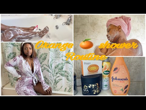 My Shower Routine | Orange scented products    body care