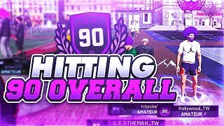 NBA 2K19 HOW TO GET 90 OVERALL IN 1 DAY - HOW TO GET XP / MYPOINTS FAST IN 2K19