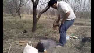preview picture of video 'На шашлыке Кызыл-Кия 2013 апрель'