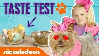 JoJo Siwa Treats BowBow to Doggie Treat Taste Test 🐾🍦   Nick