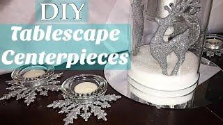 Simple DIY Christmas Tablescape Centerpieces